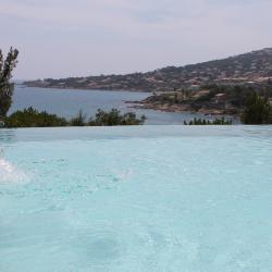 La vue panoramique, de la terrasse du rez-de-jardin