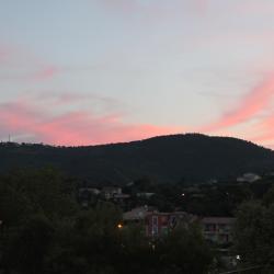Coucher de soleil sur la colline des Issambres
