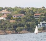 La villa, de la baie du Boucharel